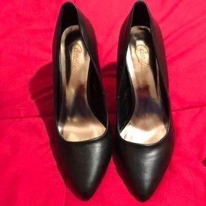 """Candies black leather 2"""" heels!"""